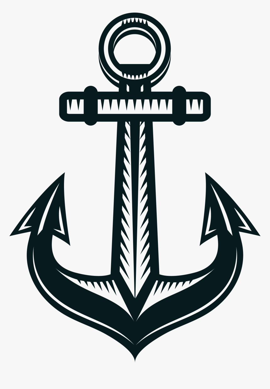 Nut Clip Anchor - Anchor Clipart Black And White, HD Png Download, Free Download