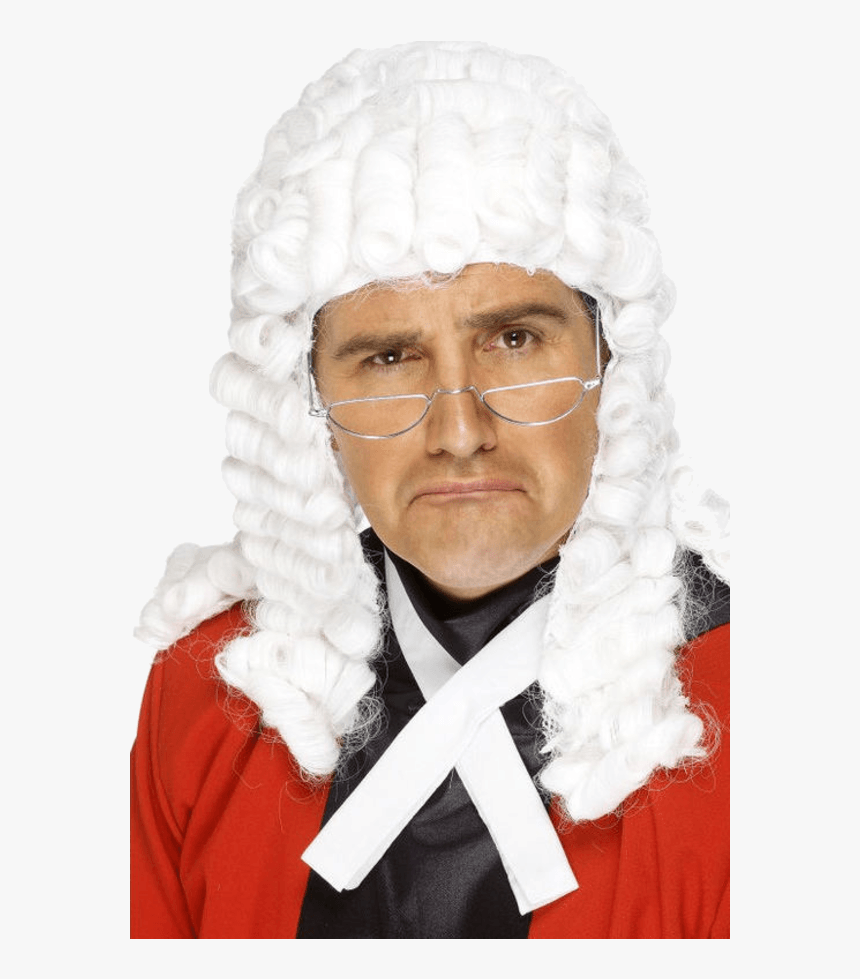 """Judge""""s Wig White Smiffys , Png Download - Judge Wig, Transparent Png, Free Download"""