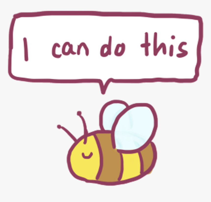 Bee Cutebee Cute Kawaii Icandothis Freetoedit - Cute Tumblr Stickers Png, Transparent Png, Free Download