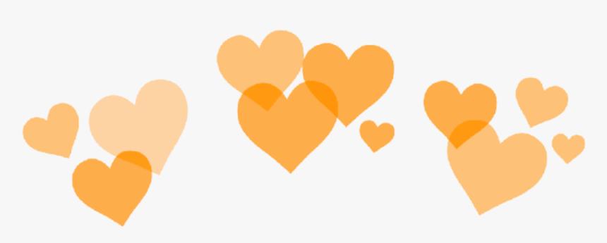 #orange #heart #hearts #crown #heartcrown #orange #aesthetic - Green Heart Crown Transparent, HD Png Download, Free Download