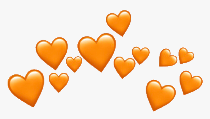#heartcrown #orangeheart #emojicrown #emoji #heart - Heart Crown Png, Transparent Png, Free Download