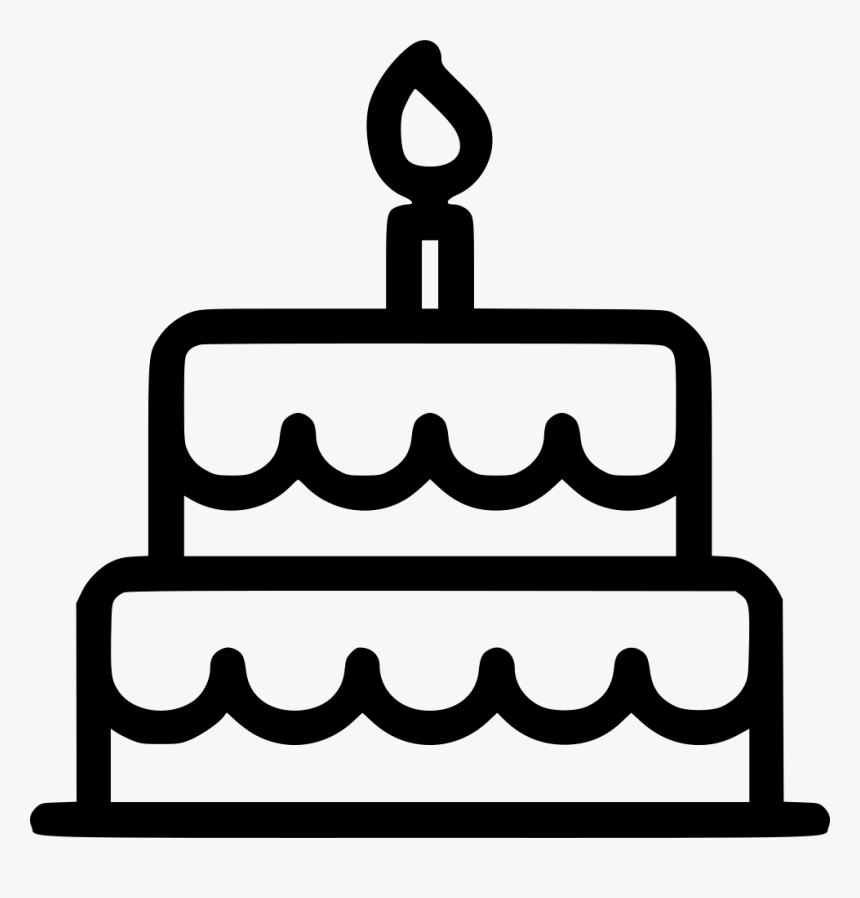 Wedding Cake - Icon Happy Birthday Png, Transparent Png, Free Download