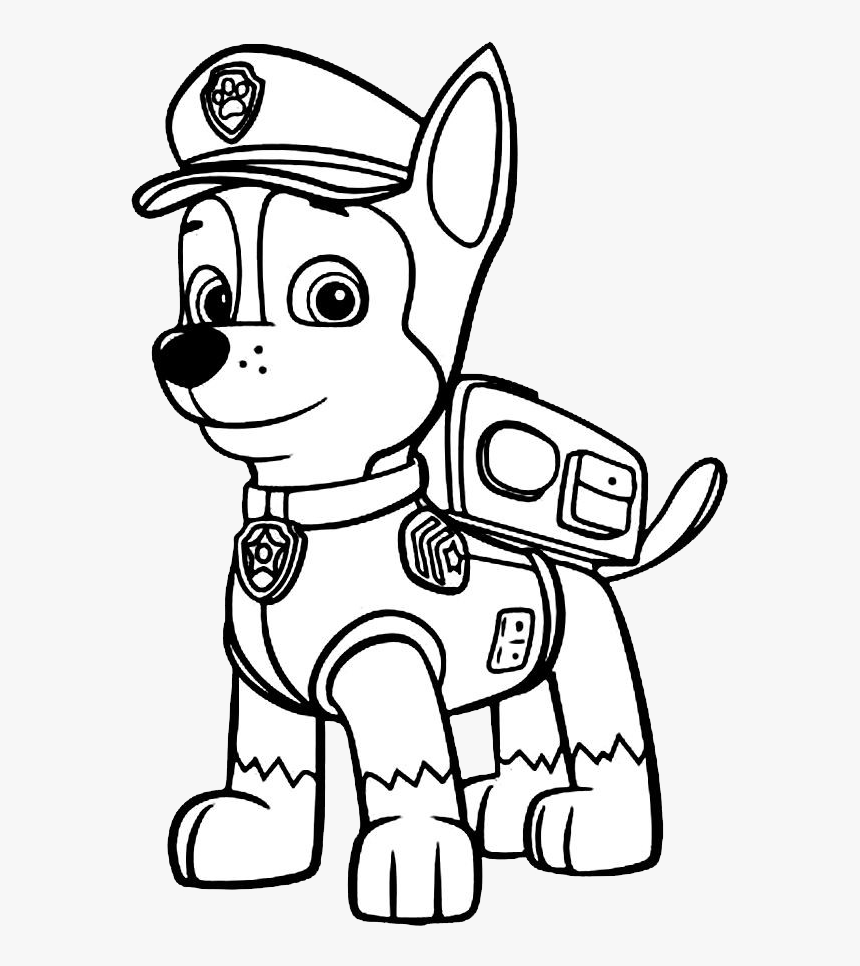 - Transparent Paw Patrol Png Images - Colouring Pages Paw Patrol