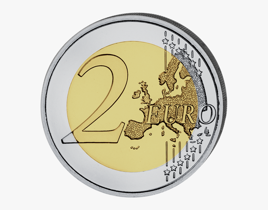 - Colored 2 Euro Coin - 2 Euro Coin Png, Transparent Png, Free Download