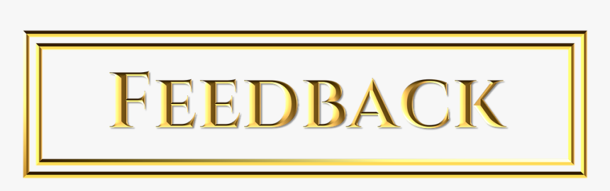 Gold, Feedback, Button, Sign, Word, Golden, Letters - Parallel, HD Png Download, Free Download
