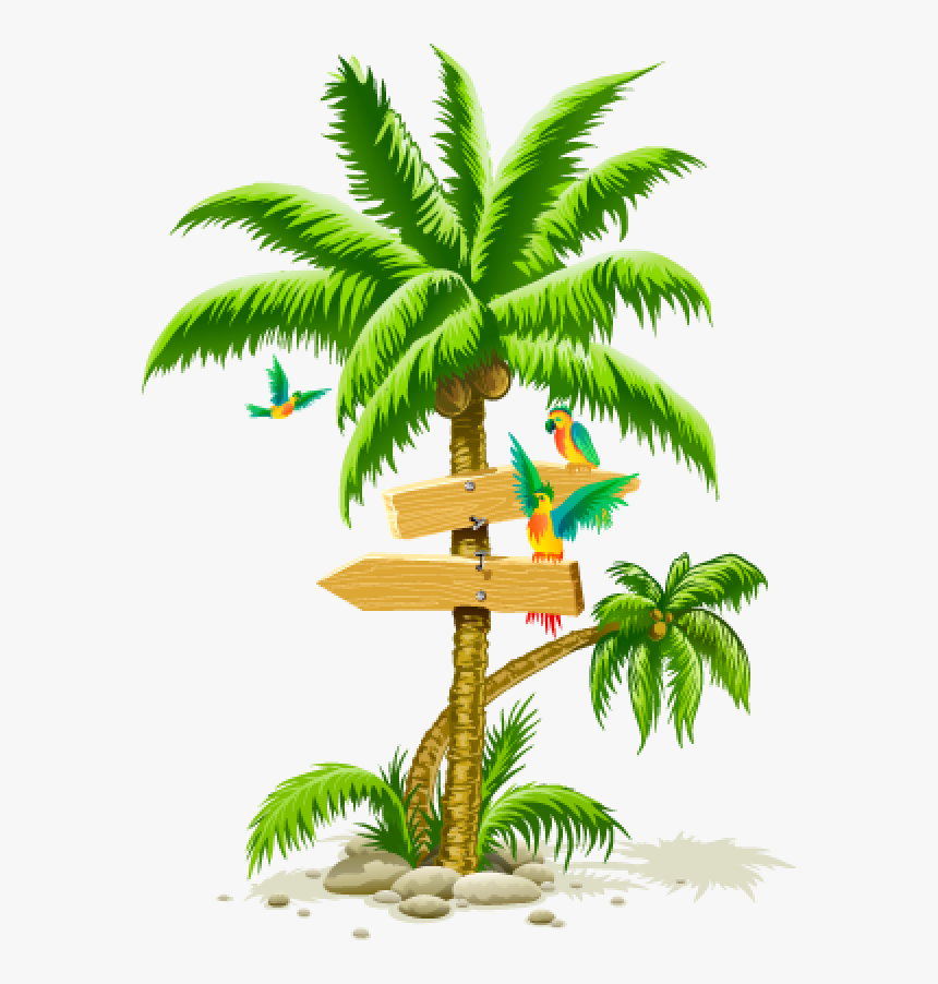 Palmtree Png Free Download - Tropical Palm Trees Png, Transparent Png, Free Download