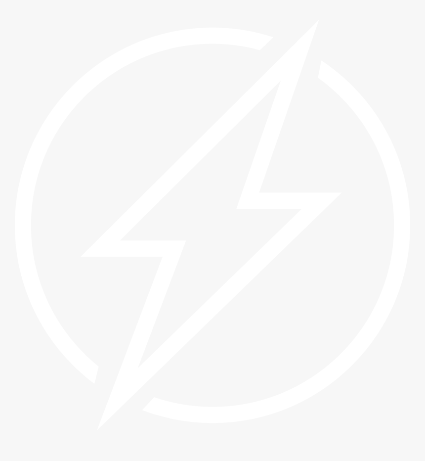 White Lightning Bolt Symbol, HD Png Download, Free Download