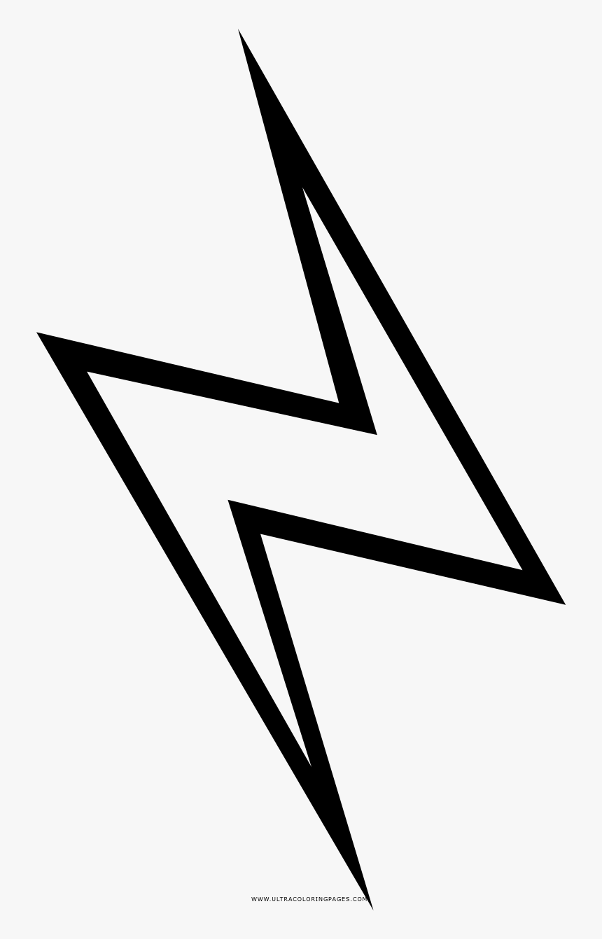 Lightning Bolt Coloring Page - Disegno Fulmine Da Colorare, HD Png Download, Free Download