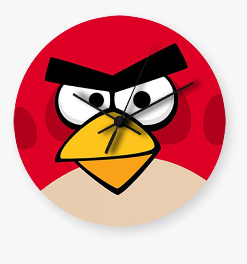 Angry Bird Printed Wallclock Angry Birds Wallpaper Pc Red Hd Png Download Kindpng