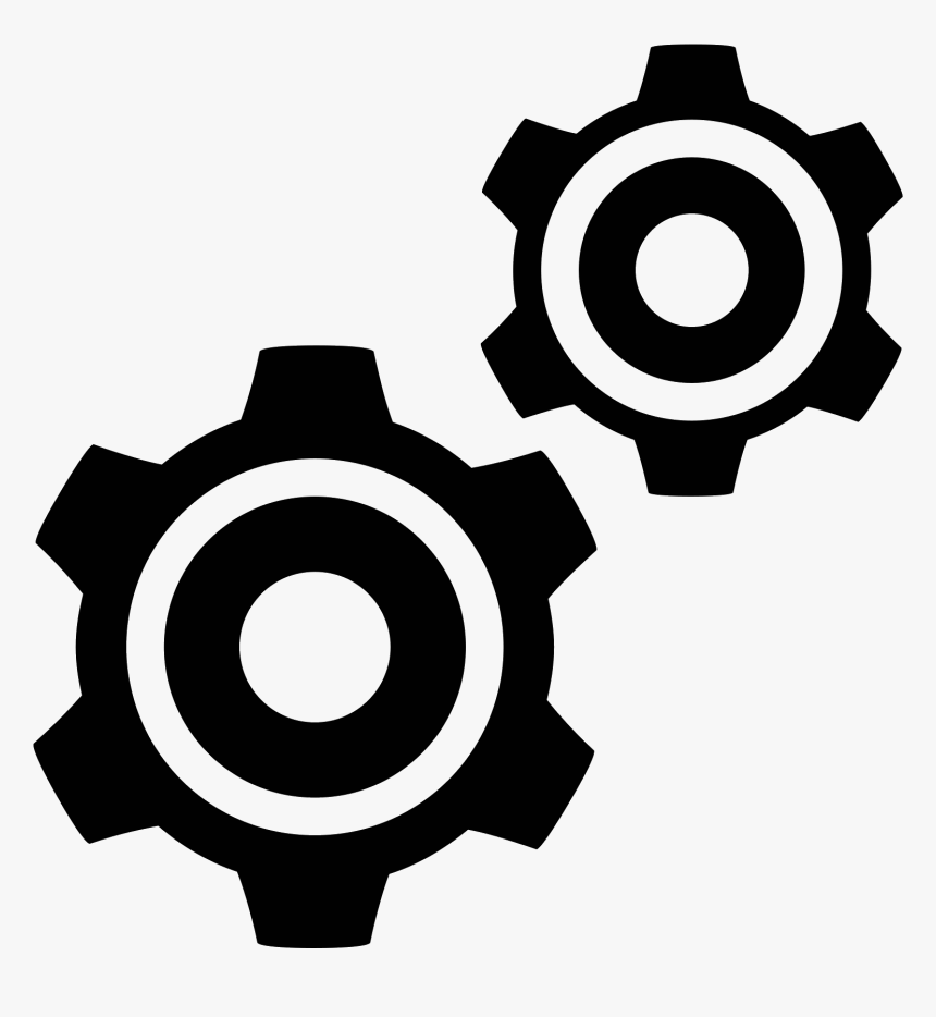 In This Icon There Are Two Cogs Aligned Diagonally - Services Svg, HD Png Download, Free Download