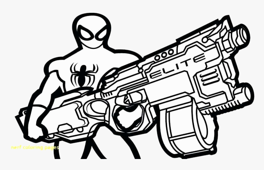 Nerf Gun Coloring Ideas Fabulous Pages Free Photo Transparent - Nerf Gun Coloring Pages, HD Png Download, Free Download