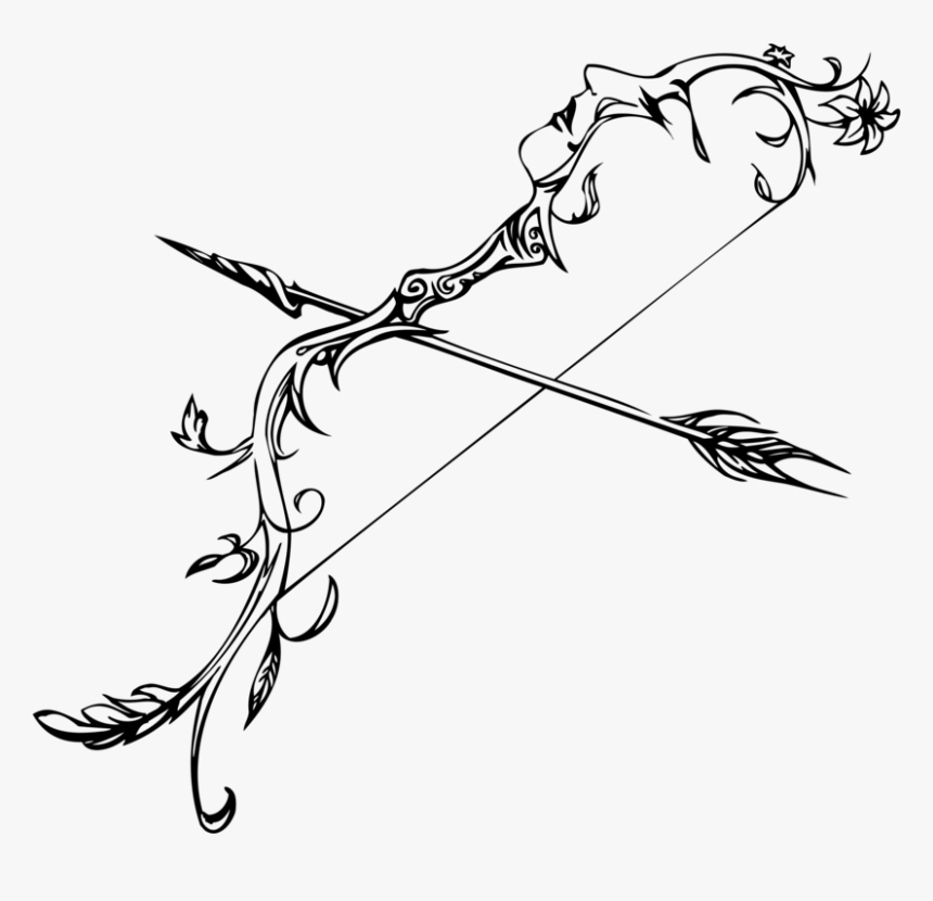 Transparent Arrow Doodle Png - Drawing Bow And Arrow, Png Download, Free Download