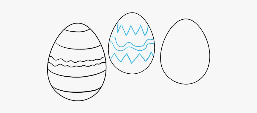 How To Draw Easter Eggs - Easter Eggs How To Draw, HD Png Download, Free Download