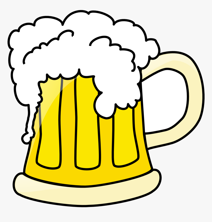 Beer Clip Art Black And White Free Clipart Images Transparent - Beer Clipart, HD Png Download, Free Download