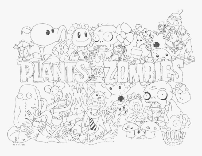 Coloring Pages Plants Vs Zombies Plants Vs Zombies Para Colorear