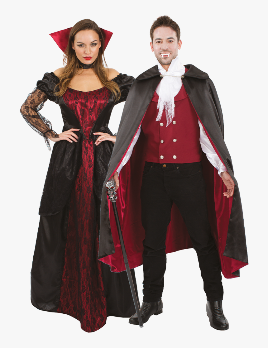 Vampire Couple Halloween Costumes.Regal Vampire Couples Halloween Costume Vampire Costumes Ideas Couples Hd Png Download Kindpng
