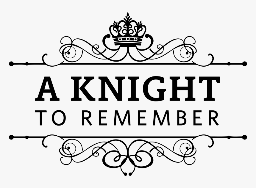 A Knight To Remember Logo Black Crop - Krishna Murthy College Of Engineering, HD Png Download, Free Download