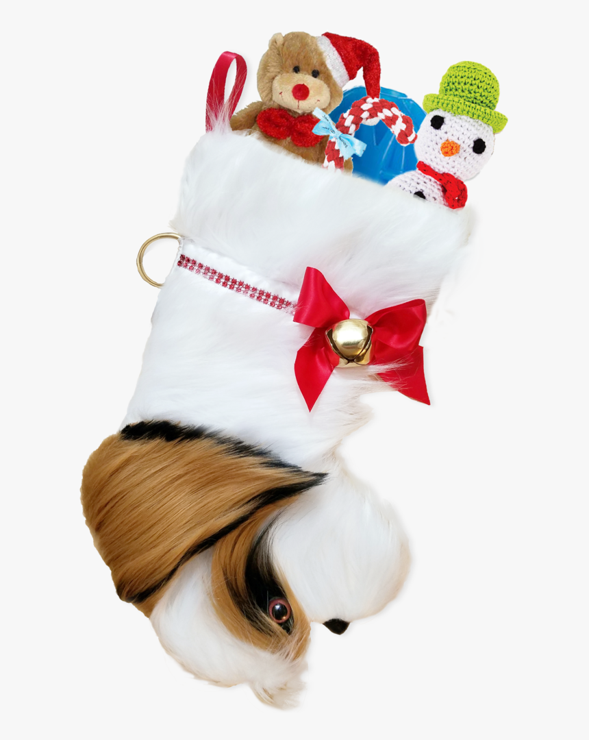 This Shih Tzu Shaped Dog Christmas Stocking Is The - Plush, HD Png Download, Free Download