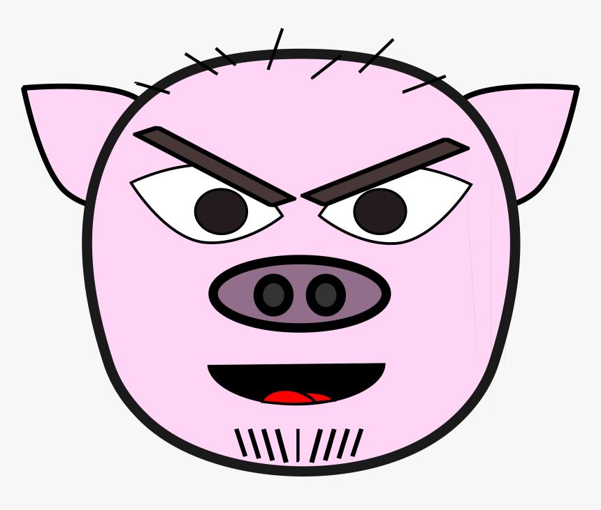Transparent Mean Clipart - Kepala Babi Png, Png Download, Free Download