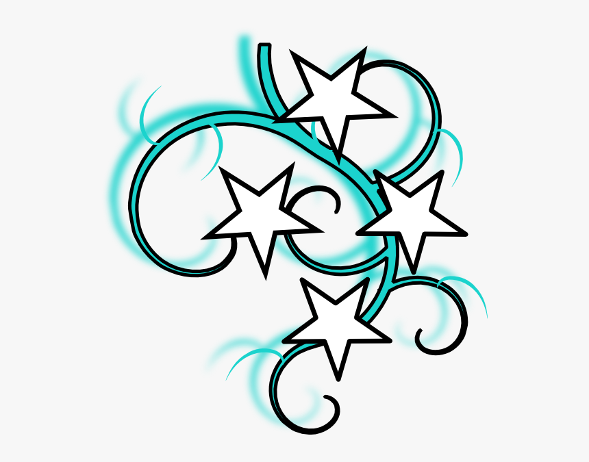 Star Tattoos Clipart Vector - Swirl Star Clip Art, HD Png Download, Free Download