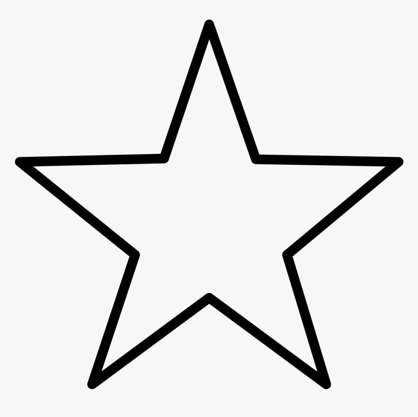 5 Point Star Svg Png Icon Free Download - Star Outline, Transparent Png, Free Download