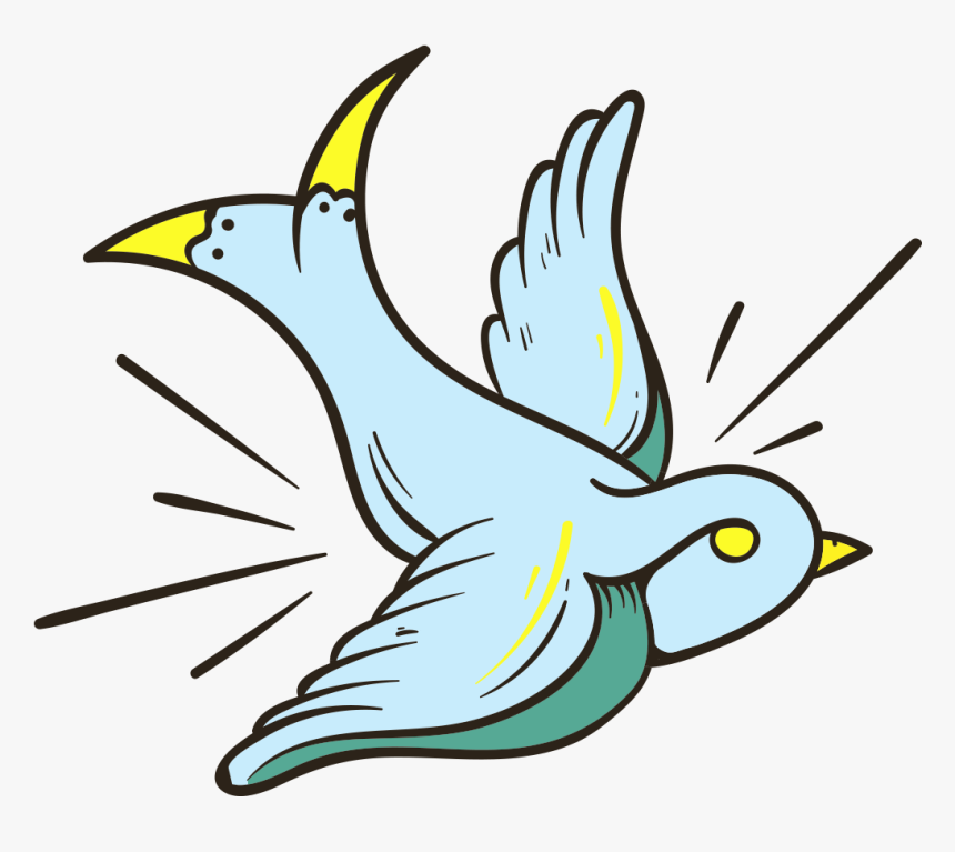 Vector Royalty Free Library Old School Tattoo Clip - Tattoo Bird Clip Art, HD Png Download, Free Download