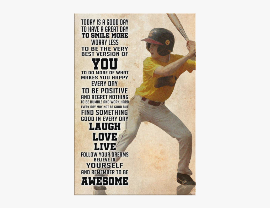 "Custom Baseball Canvas Today Is Good Day""  Class= - Baseball Have A Great Day, HD Png Download, Free Download"