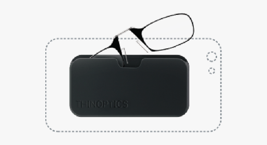Thin Optics Reading Glasses - Thinoptics Black Pod With Glasses 2.50 D, HD Png Download, Free Download