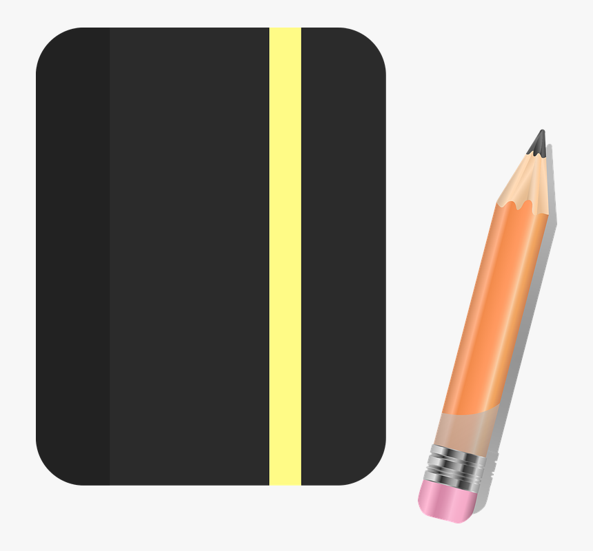 Notebook, Pencil, Sketchbook, Paper, Office, Notepad - Sketchbook And Pencil Transparent Png, Png Download, Free Download