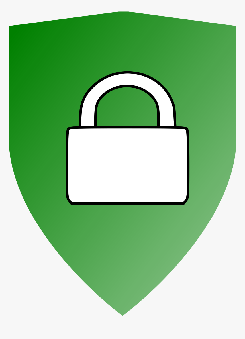 Secured Locked Shield Big - Secured Clipart, HD Png Download, Free Download