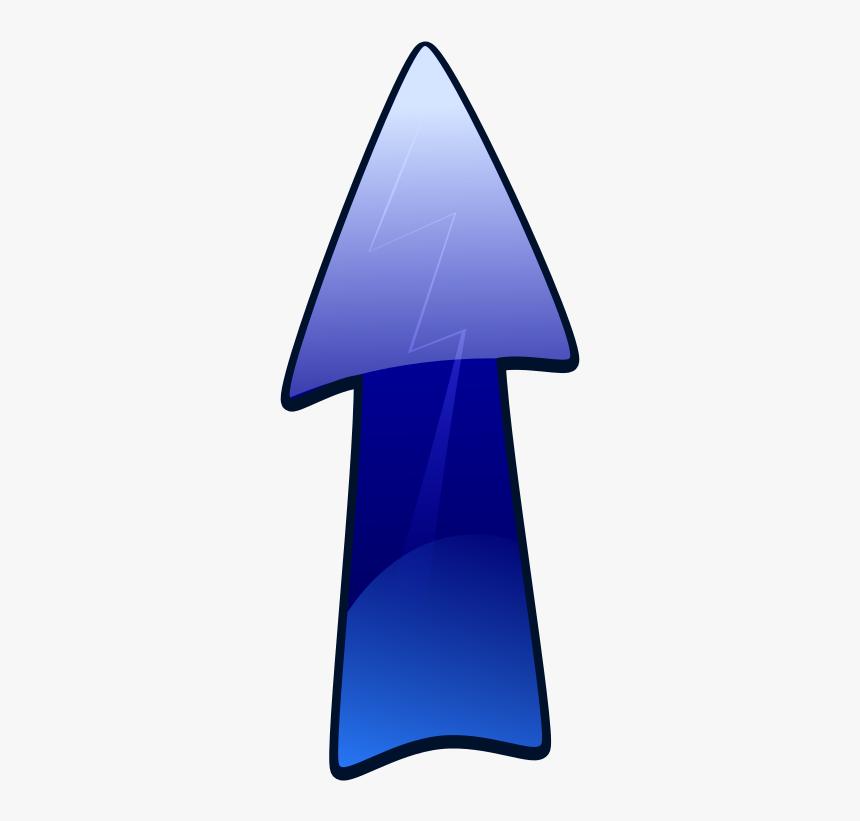 Long Arrow Up - Clip Art Blue Arrow Up, HD Png Download, Free Download