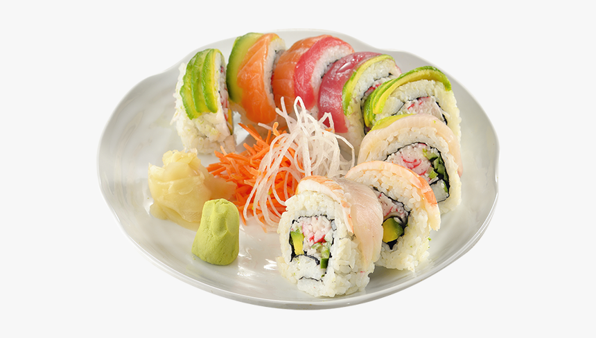 Clip Art Rainbow Sushi Roll - California Roll, HD Png Download, Free Download