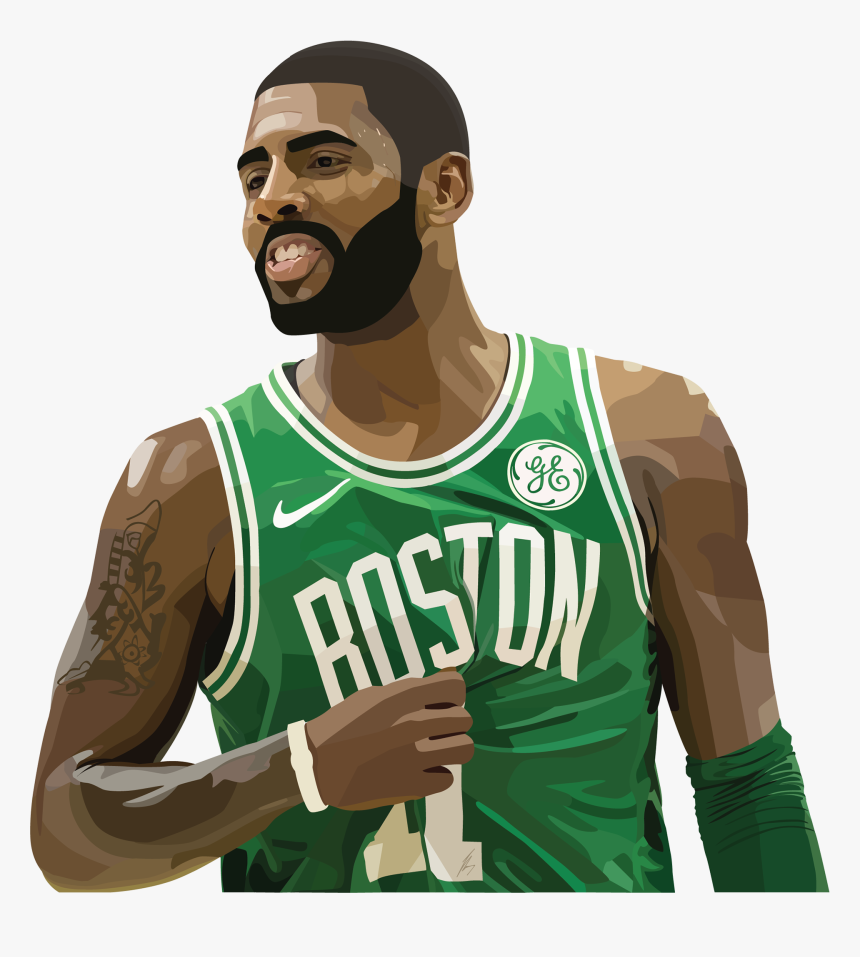 Kyrie Irving Vector Illustration - Kyrie Irving Vector Png, Transparent Png, Free Download