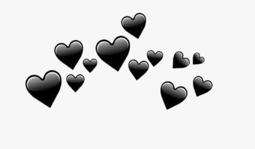 Blackhearts Tumblr Freetoedit - Black Heart Crown Transparent, HD Png Download, Free Download