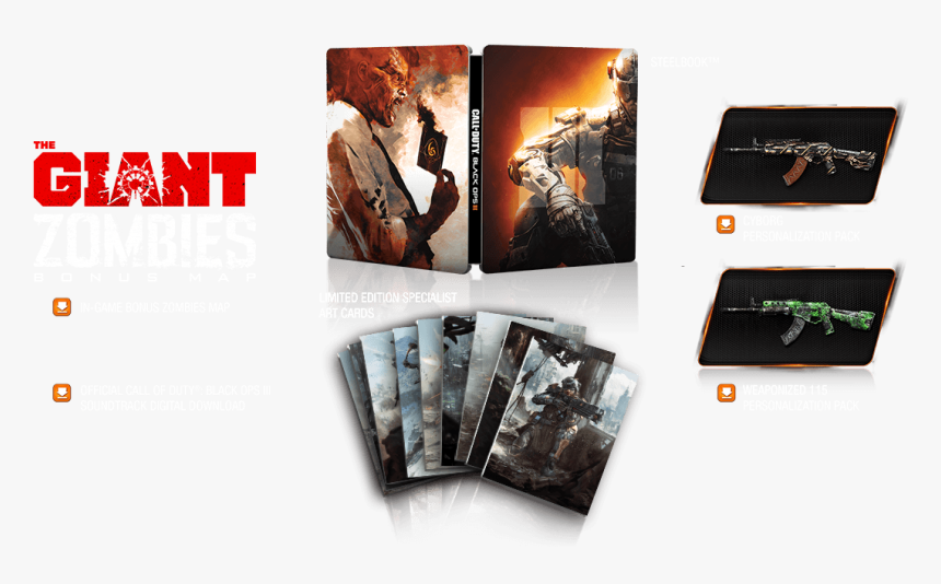 Call Of Duty Black Ops 3 Hardened Edition Steel Box, HD Png Download, Free Download