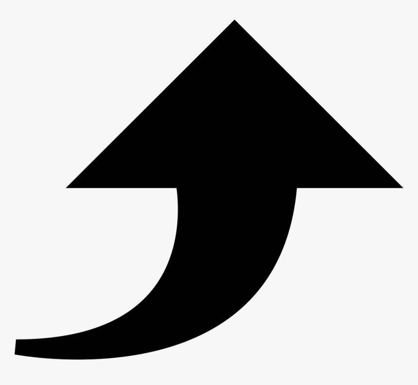 Uploading Curve Arrow - Arrow Up Icon Png, Transparent Png, Free Download