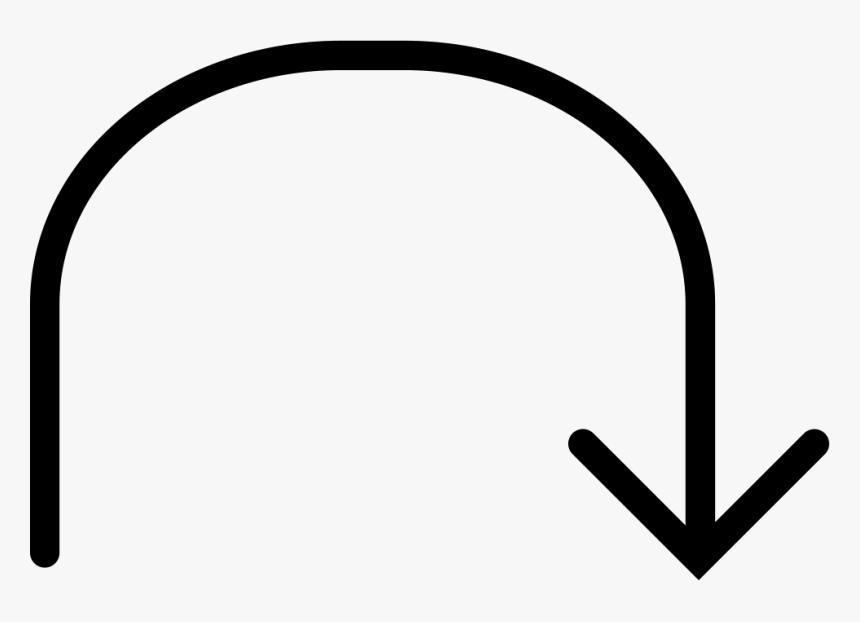 Curve Arrow Png - Curve White Arrow Png Icon, Transparent Png, Free Download