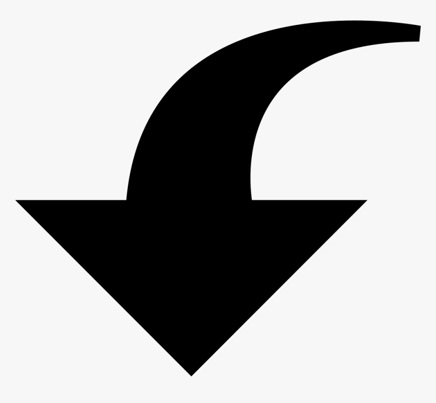 Downwards Curved Arrow Comments - Clip Art Curved Arrow Down, HD Png Download, Free Download