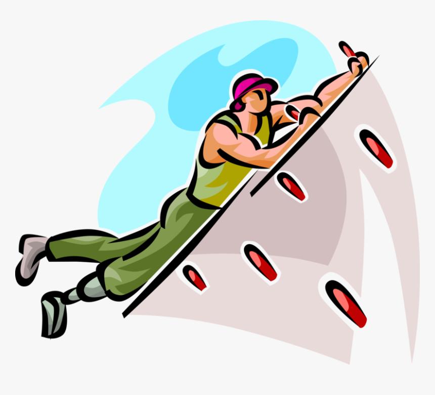 Vector Illustration Of Indoor Wall Climber Rock Climbing Skalolaz Png Hd Png Download Kindpng