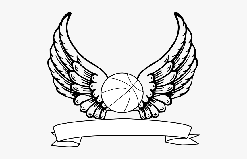 Vector Halo Drawing Angel - Wings Tattoo For Chest, HD Png Download, Free Download