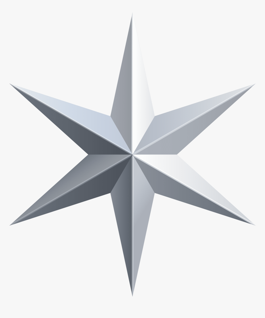 Silver Star Transparent Clip Art Image - Silver Star Png, Png Download, Free Download