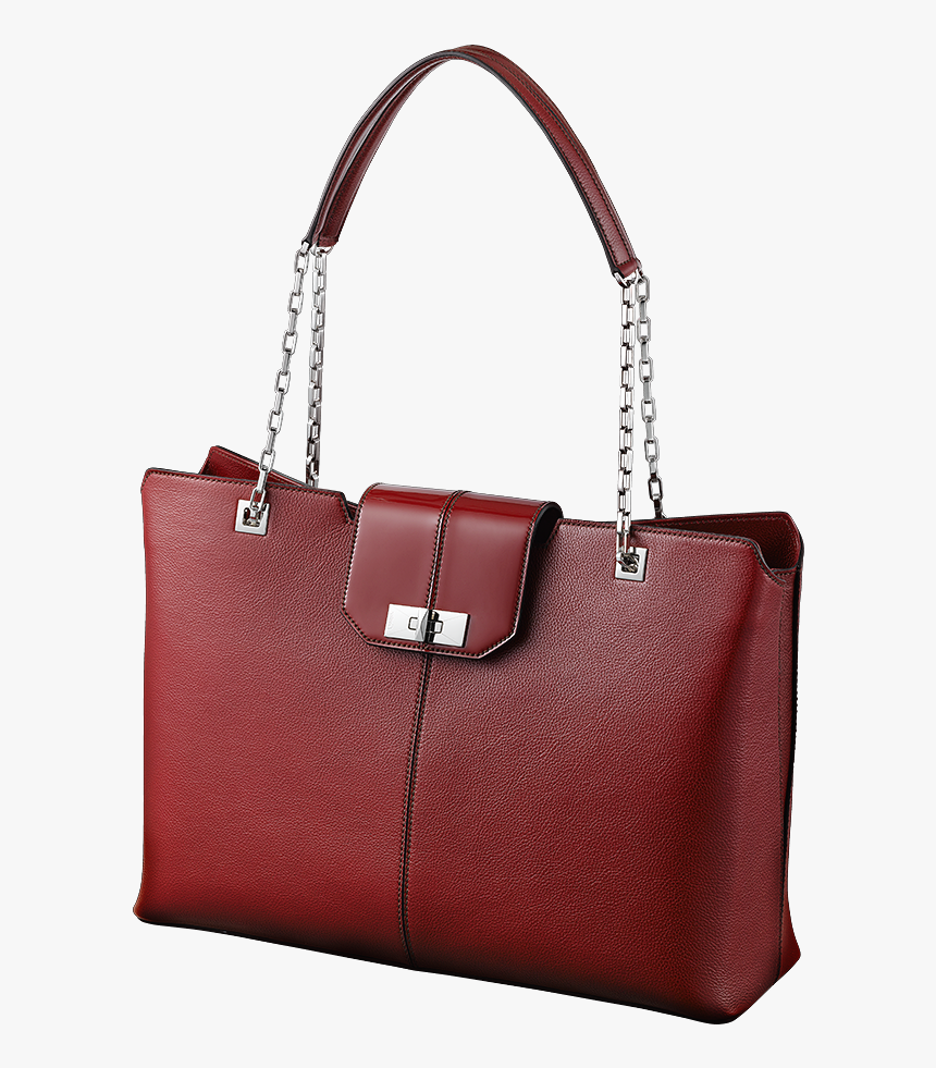 Red Cartier Tote Png - Tote Bag, Transparent Png, Free Download