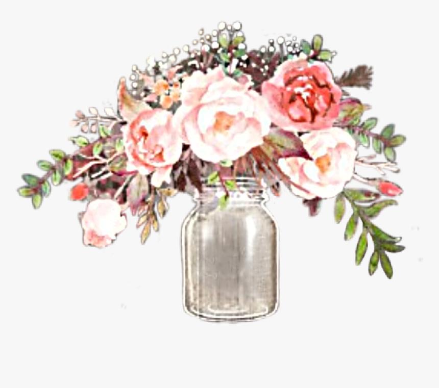 #watercolor #flowers #floral #bouquet #arrangement - Flower Bouquet, HD Png Download, Free Download