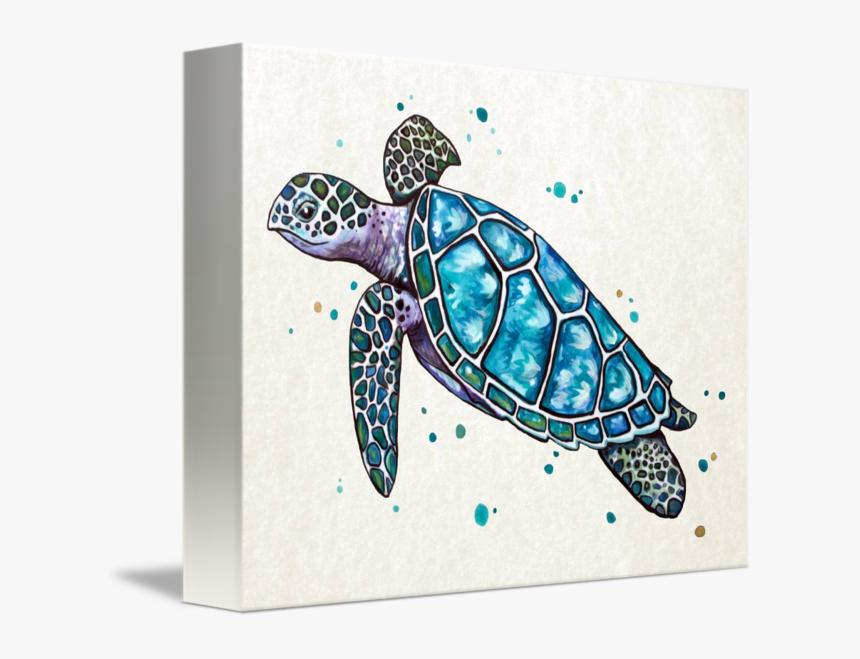 Sea Turtle In Watercolor - Turtle Watercolor, HD Png Download, Free Download