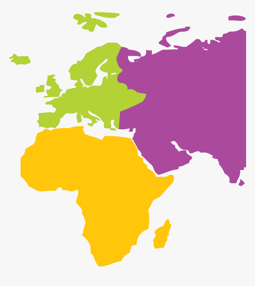 Hygiena Map - Africa Europe Middle East Map, HD Png Download ...