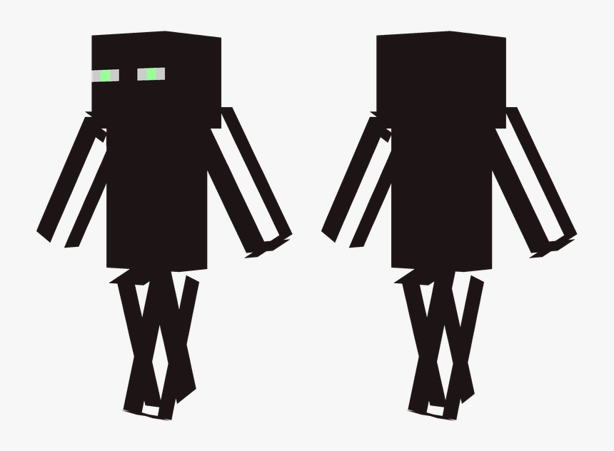 Enderman Minecraft Skin Clipart , Png Download - Minecraft Slim Enderman Skin, Transparent Png, Free Download