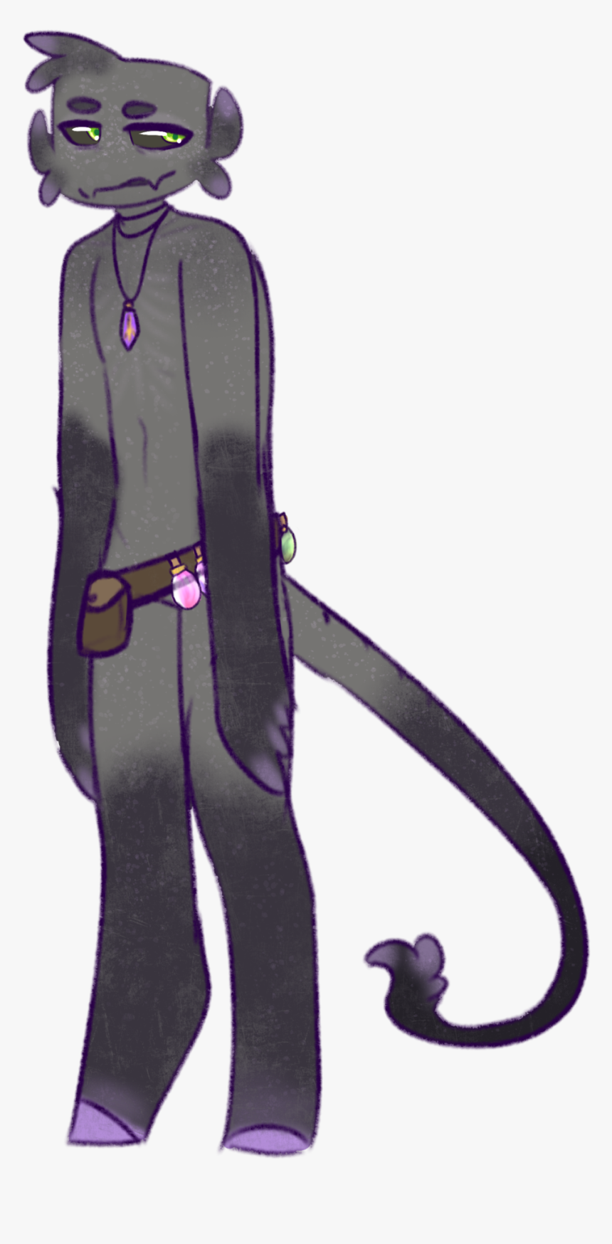New Enderman Oc, His Name Is Jax And He Makes Potions - Cartoon, HD Png Download, Free Download