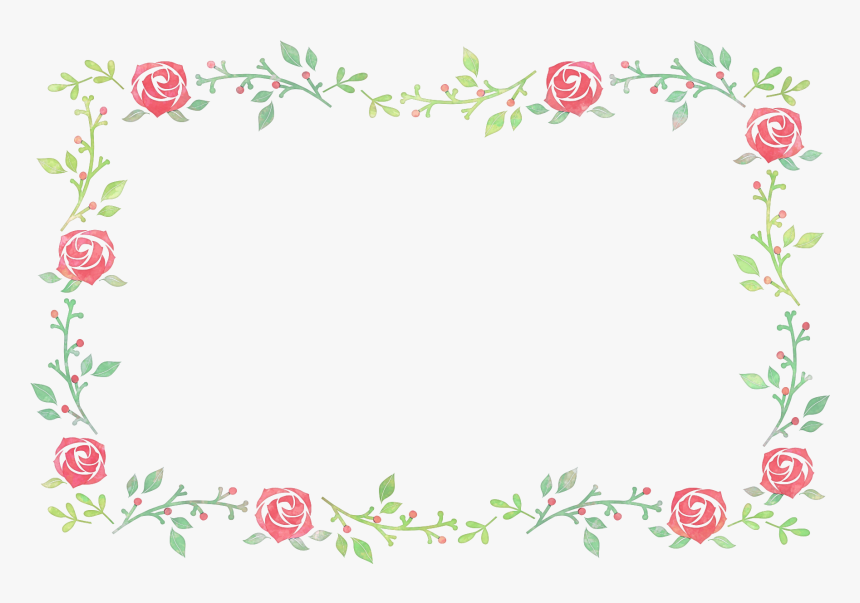 Flower Festival Watercolor Painting - Flower Frame Painting Png, Transparent Png, Free Download