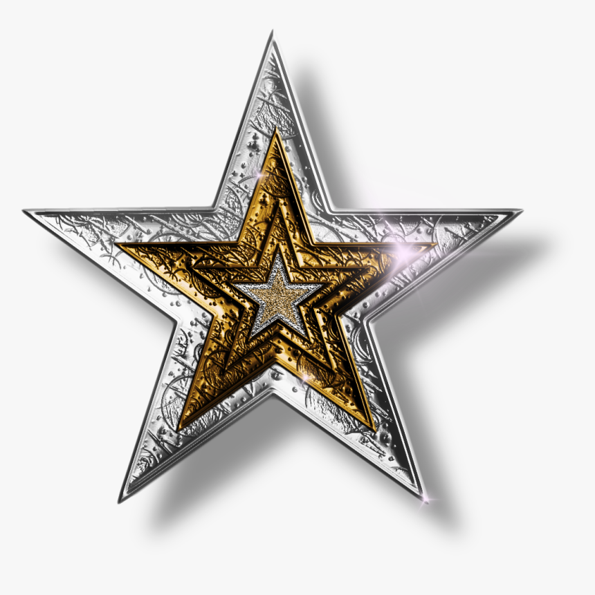 Dallas Cowboys Star Png - Silver And Gold Stars, Transparent Png, Free Download
