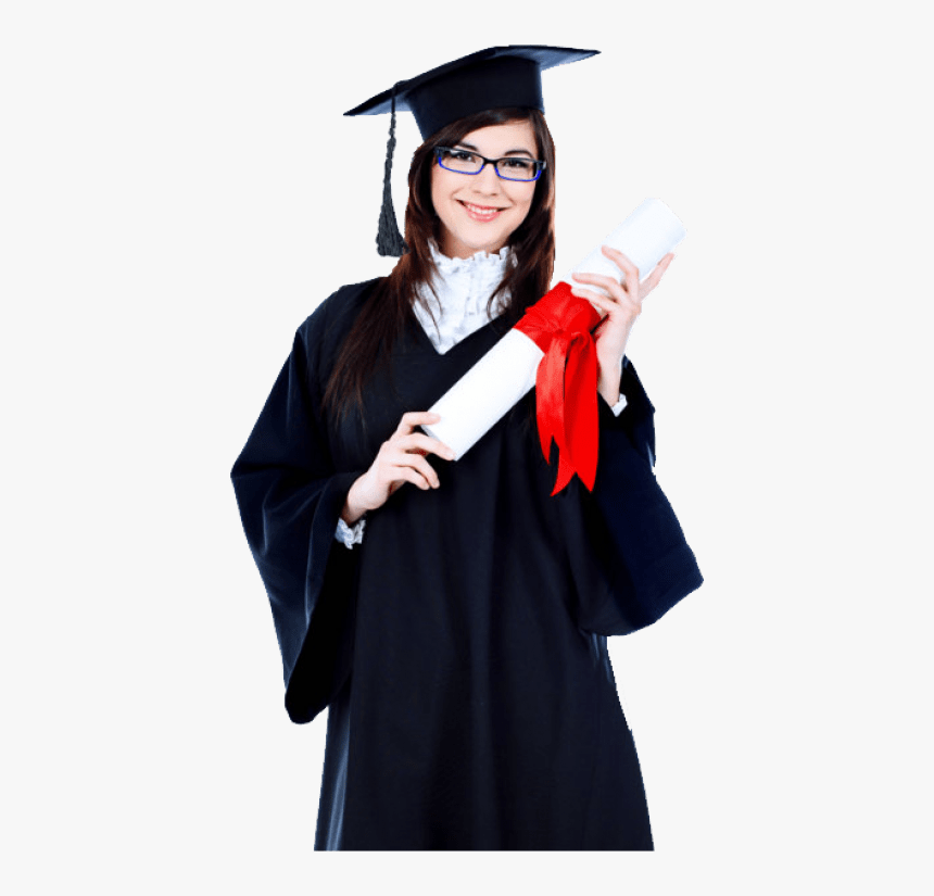 Transparent Graduate Silhouette Png - Graduate Female Student Png, Png Download, Free Download